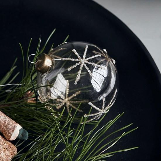 Vánoční ozdoba STAR Clear 8 cm koule čirá_3
