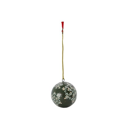 Vánoční ozdoba MACHE 8 cm koule zelená_3