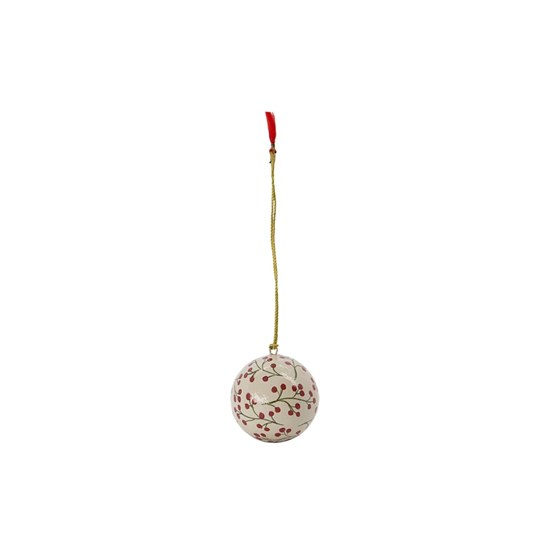 Vánoční ozdoba MACHE 5 cm koule písková_3