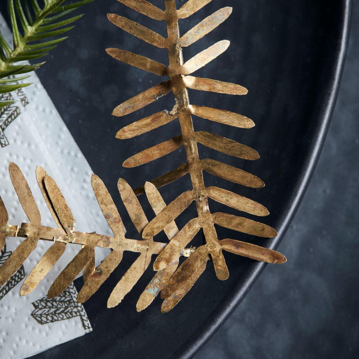 Vánoční ozdoba srdce z větviček LAMET 10 cm mosazná_2