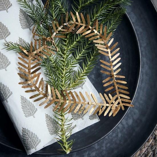 Vánoční ozdoba srdce z větviček LAMET 10 cm mosazná_3