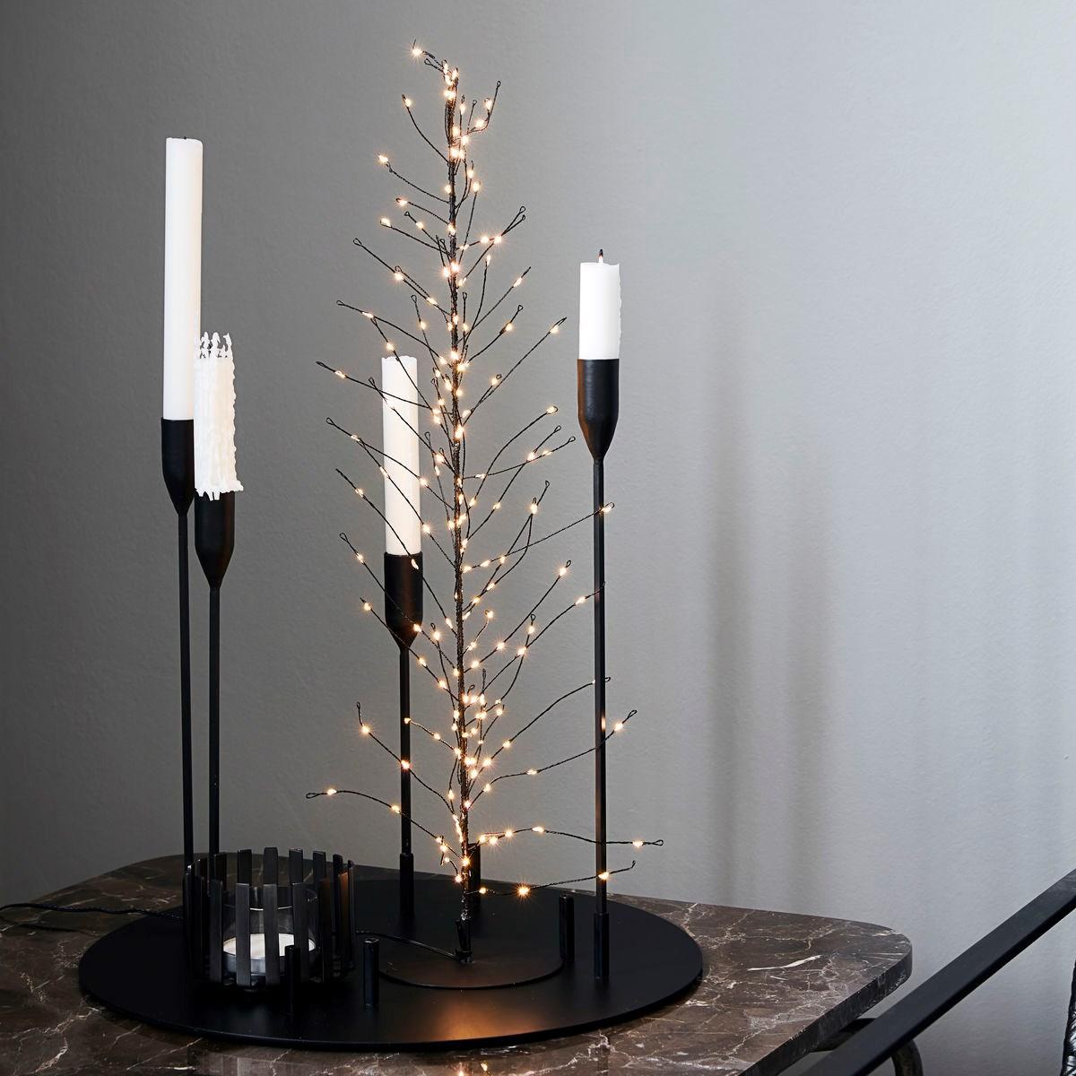 Svítící drátěný strom GLOW s časovačem 60 cm černý_0