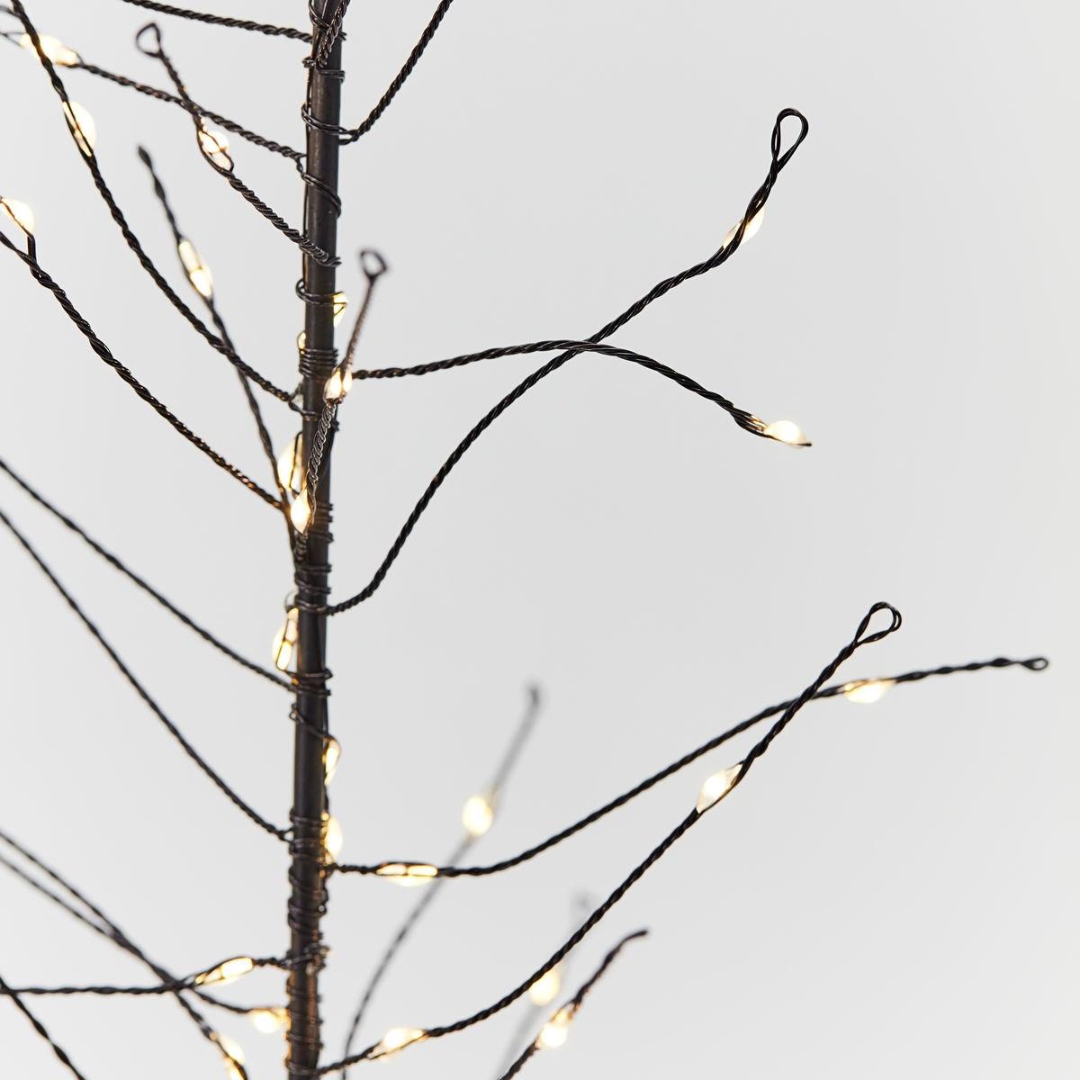 Svítící drátěný strom GLOW s časovačem 60 cm černý_1