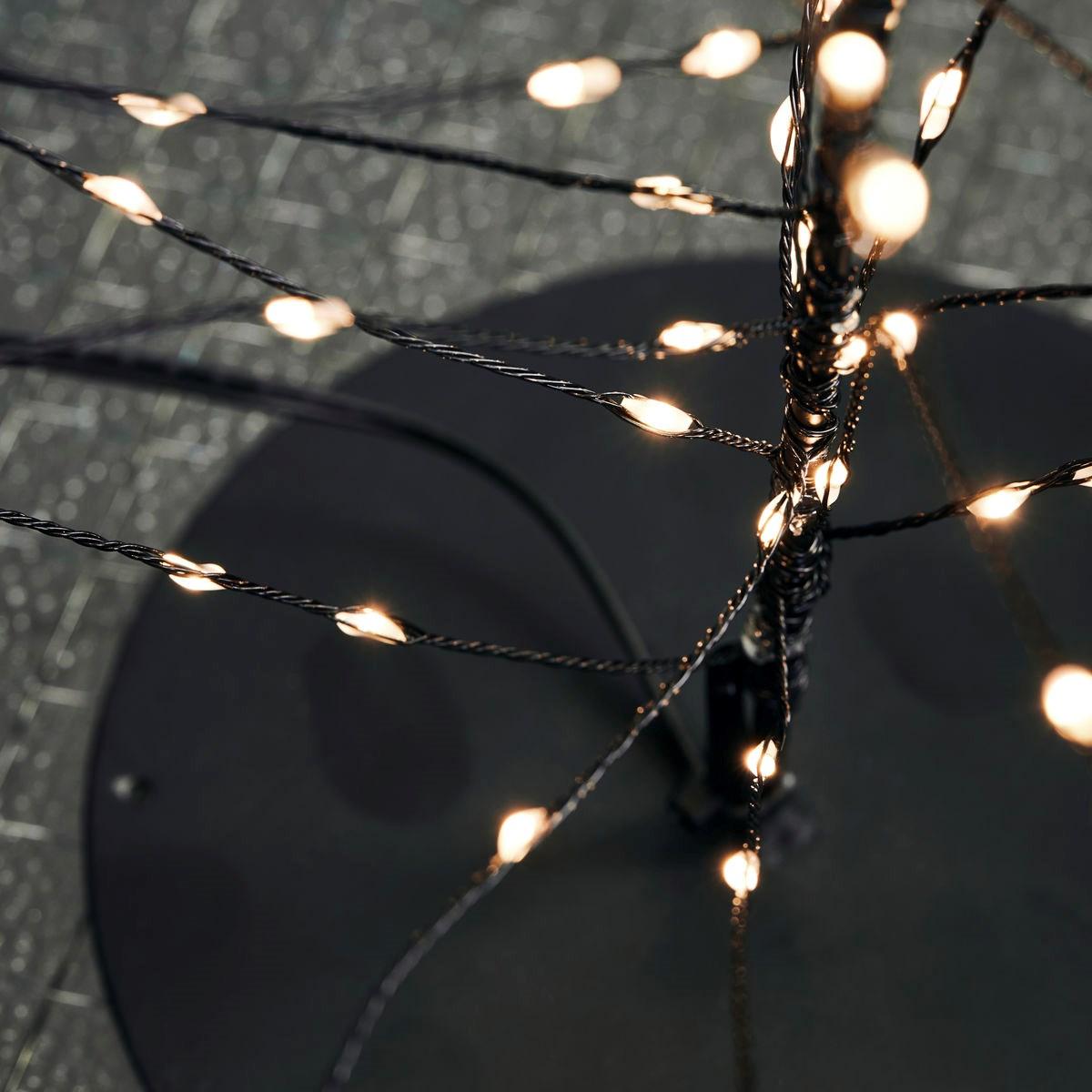 Svítící drátěný strom GLOW s časovačem 60 cm černý_2