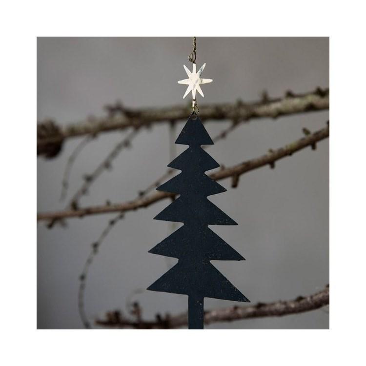 Obrázek z Vánoční ozdoba stromky s hvězdou TREE SET/3ks černo zlatá