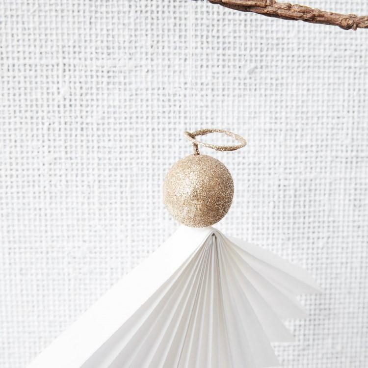 Obrázek z Vánoční ozdoba papírový anděl ANGELS 12 cm bílý