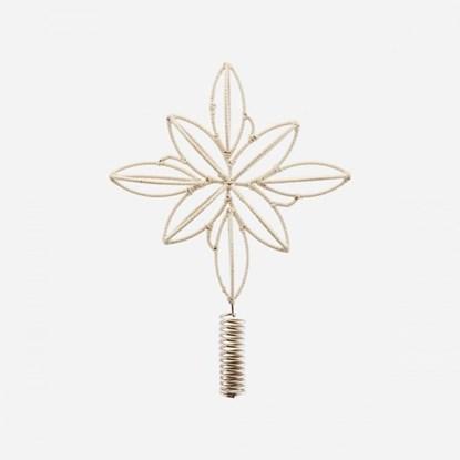 Obrázek Vánoční špice na stromek STAR SOFT béžová