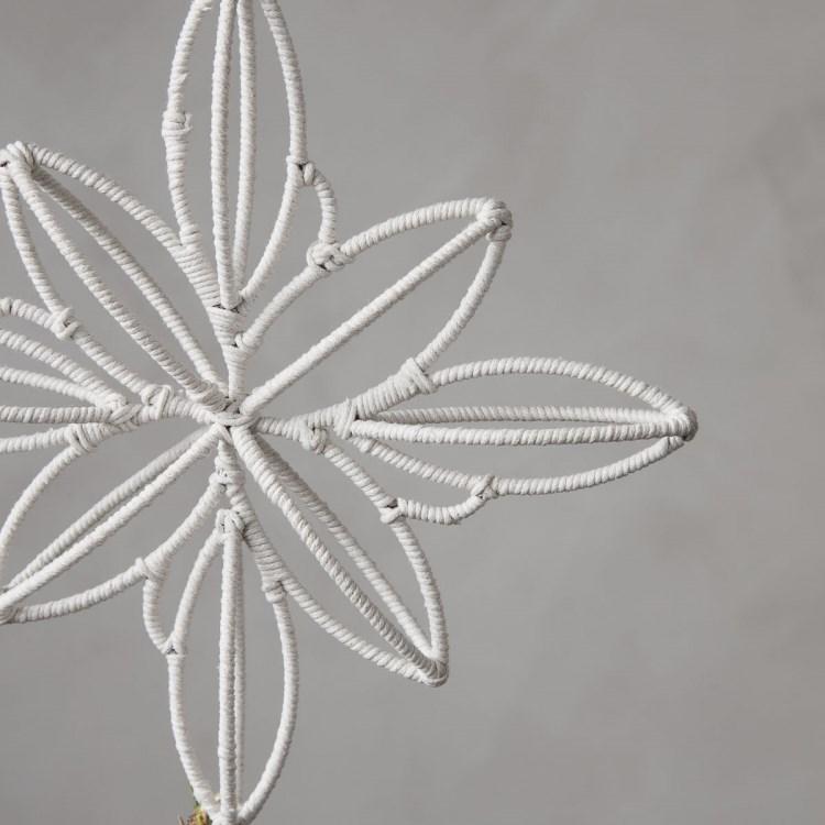 Obrázek z Vánoční špice na stromek STAR SOFT béžová