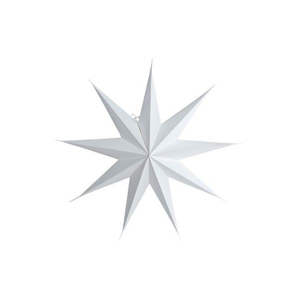 Obrázek z Papírová 9cípá hvězda STAR WHITE 60 cm bílá