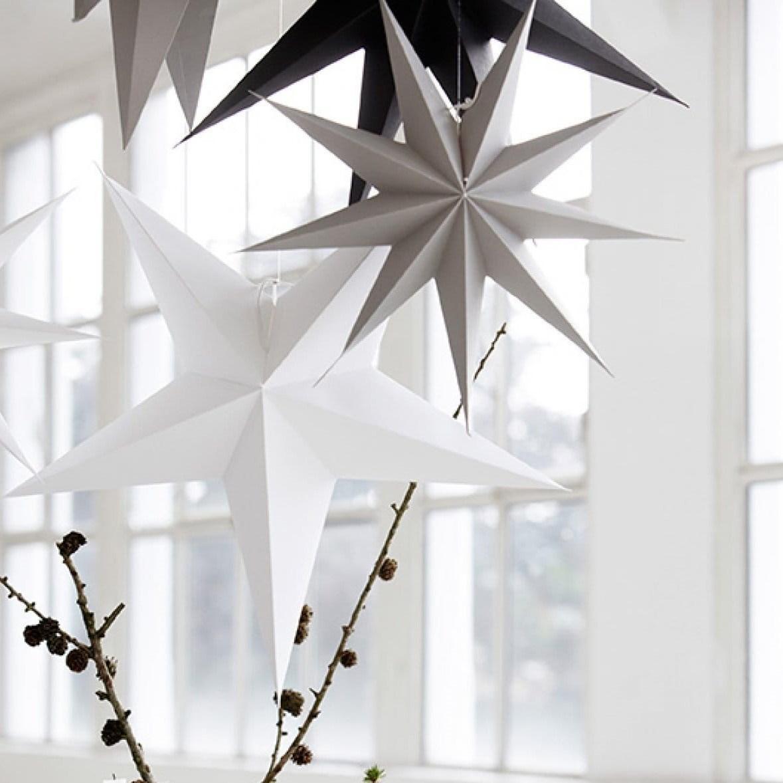 Obrázek z Papírová 9cípá hvězda STAR GREY 87 cm šedá