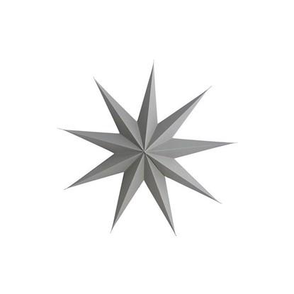 Obrázek Papírová 9cípá hvězda STAR GREY 45 cm šedá
