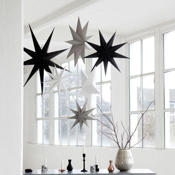 Obrázek z Papírová 9cípá hvězda STAR GREY 60 cm šedá