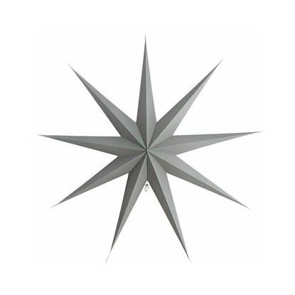 Obrázek Papírová 9cípá hvězda STAR GREY 87 cm šedá