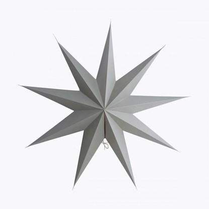 Obrázek Papírová 9cípá hvězda STAR GREY 60 cm šedá