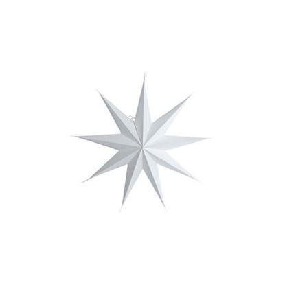 Obrázek Papírová 9cípá hvězda STAR WHITE 45 cm bílá