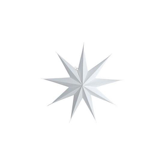 Obrázek z Papírová 9cípá hvězda STAR WHITE 45 cm bílá