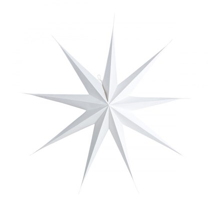 Obrázek Papírová 9cípá hvězda STAR WHITE 87 cm bílá