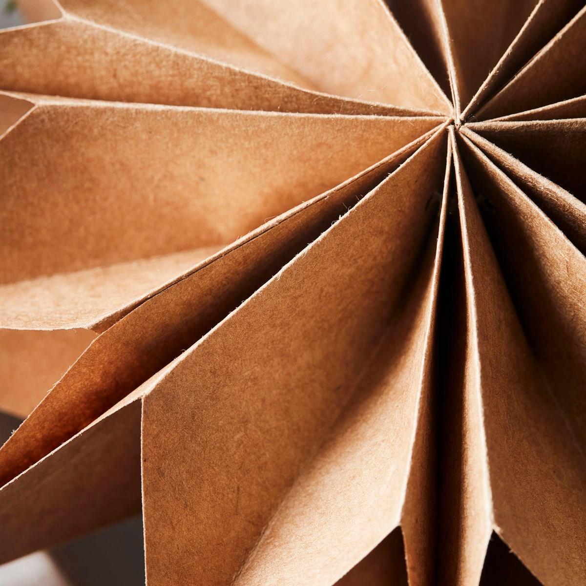 Obrázek z Papírová 12cípá hvězda CAPELLA 50 cm přírodní hnědá