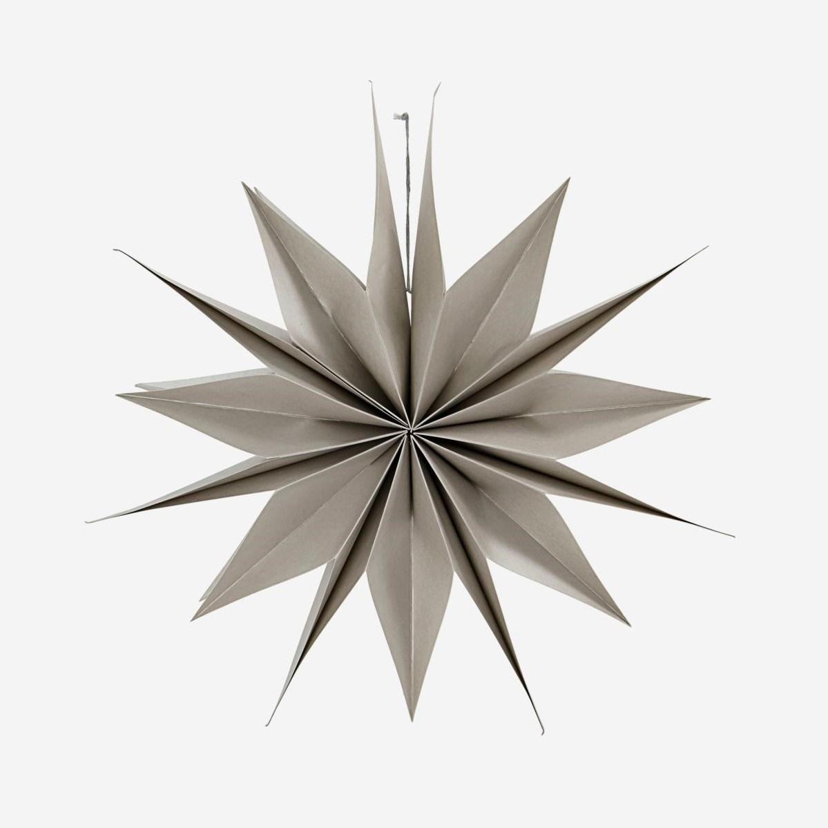 Obrázek z Papírová 12cípá hvězda CAPELLA 50 cm perleťová