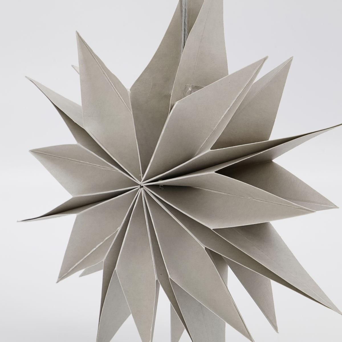 Obrázek z Papírová 12cípá hvězda CAPELLA 30 cm perleťová