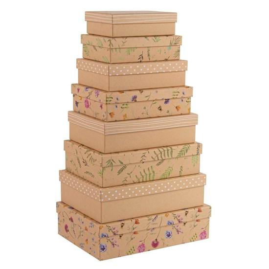 Kvalitní dárkové krabice SET/8 vel. Kraft-Blümchen_0