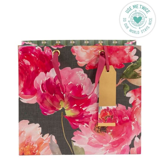 Kvalitní dárková taška 28x25x11 cm Aquarellblüten_1