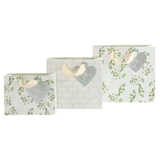 Kvalitní dárkové tašky SET/3 vel. Eukalyptus/Herzen_0