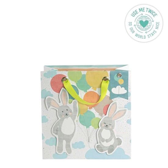 Kvalitní dárková taška 20x20x11 cm 3D/Hasen/Luftballons_1