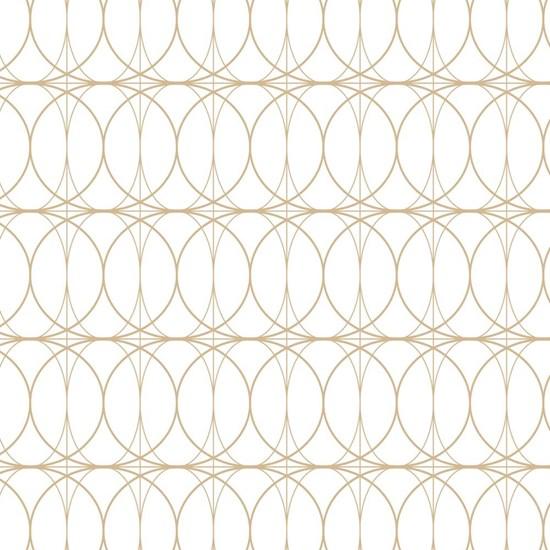 Papírové ubrousky 33x33 cm BAL/20ks Kreise gold weiß_0