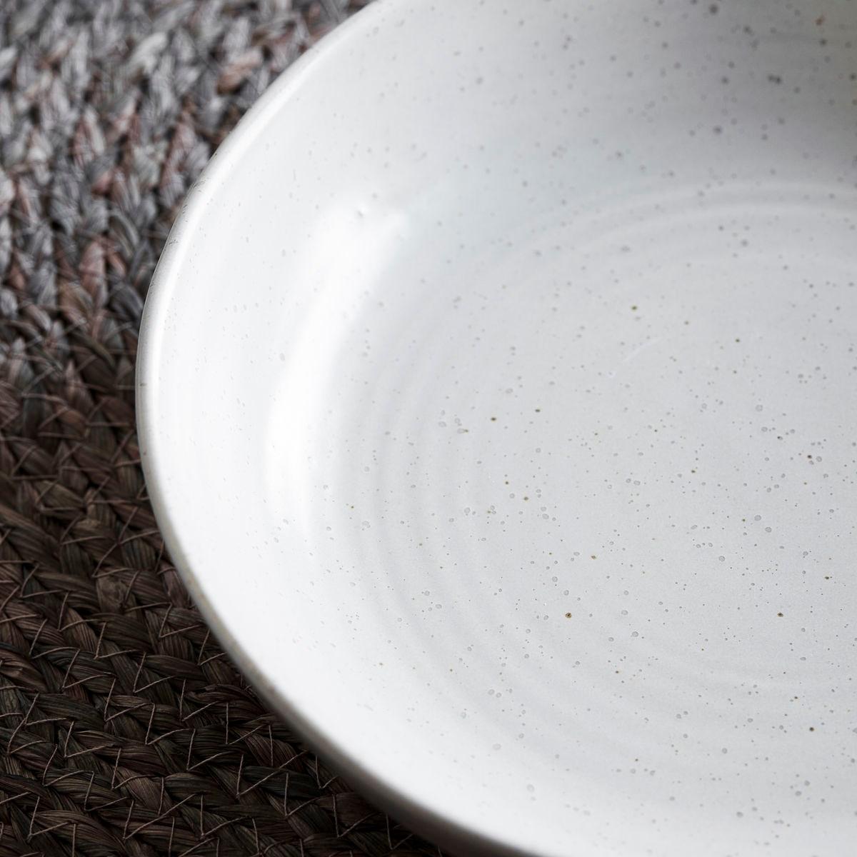 Hluboký talíř / miska PION 19 cm šedobílý_1
