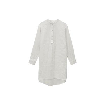 Bavlněné košilové šaty ALFRID S/M sv. šedé_5