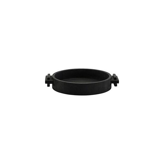 Dřevěný kulatý tác / podnos BLOCK 30 cm černý_2