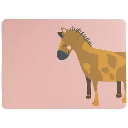 """Prostírání """"Kůň"""" 33x46 cm, růžová_0"""