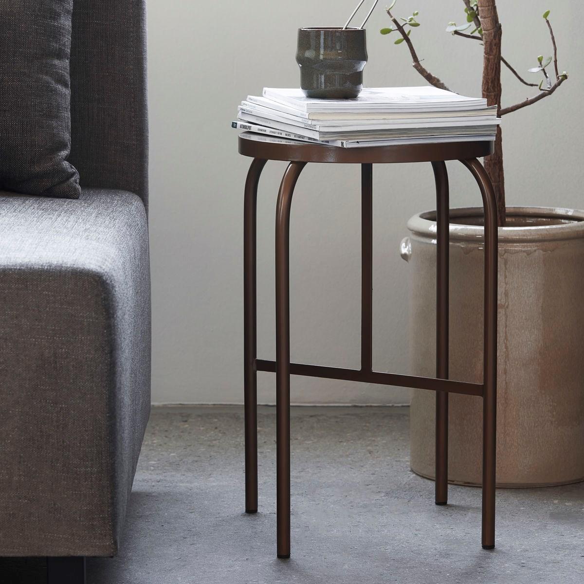 Kovová stolička SHAKER zlatohnědá_0