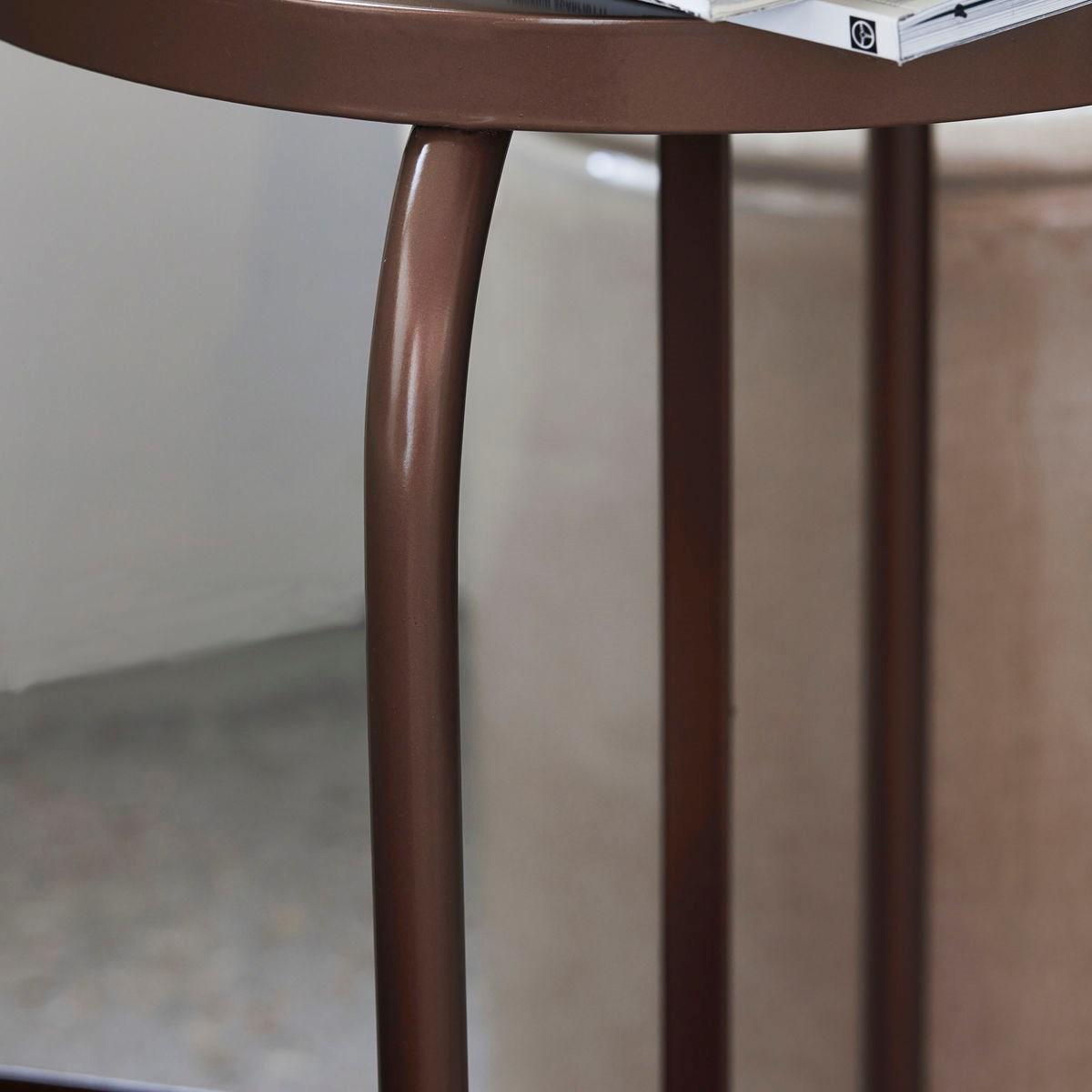 Kovová stolička SHAKER zlatohnědá_1
