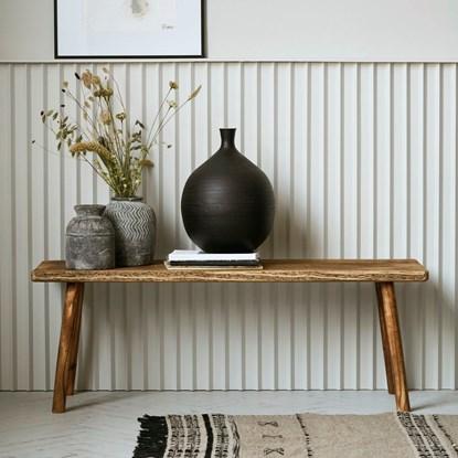 Dřevěná lavice /stolička NADI 120 cm_0