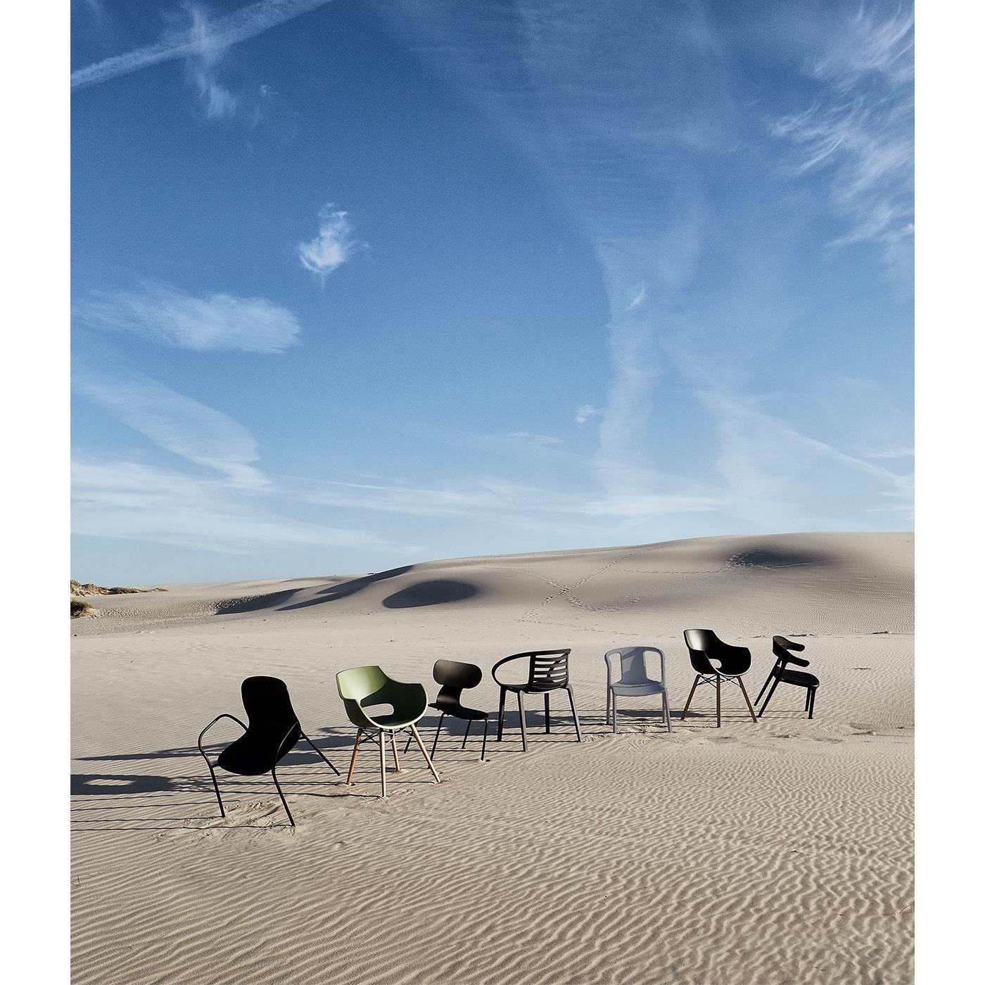 Jídelní židle Luna Stripe černá_2