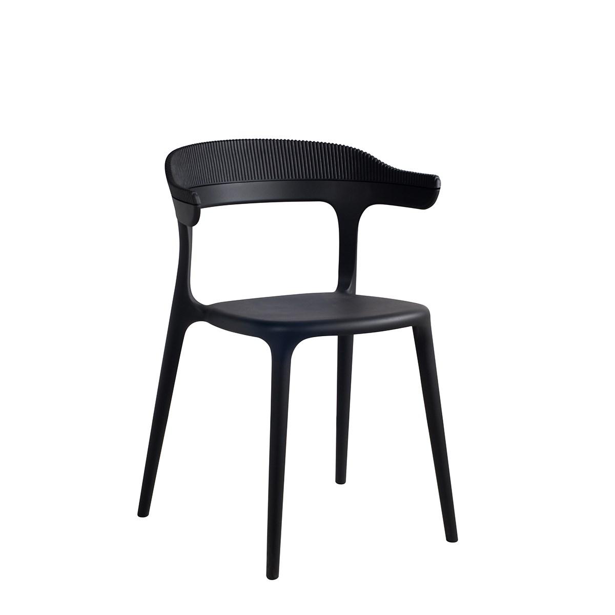 Jídelní židle Luna Stripe černá_3