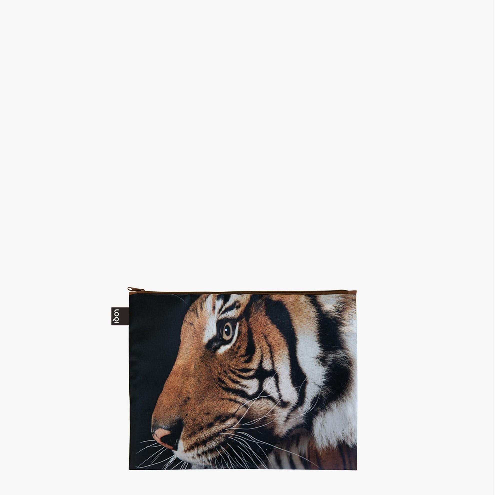 Cestovní pouzdra na zip SET/3ks LOQI NATIONAL GEOGRAPHIC Tiger, Chameleon, Flam._0