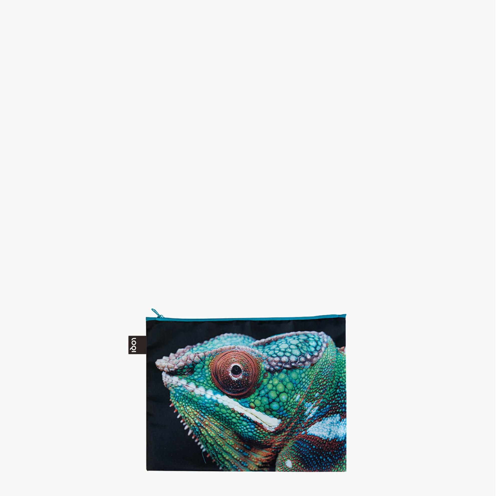 Cestovní pouzdra na zip SET/3ks LOQI NATIONAL GEOGRAPHIC Tiger, Chameleon, Flam._1
